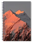Mount Cook Range On South Island In New Zealand Spiral Notebook