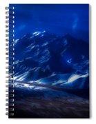 Mount Denali Moonlight Alaska Spiral Notebook