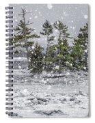 Mount Desert Narrows Snowscape Spiral Notebook