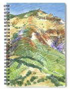 Mount Diablo From Curry Valley Ridge Spiral Notebook