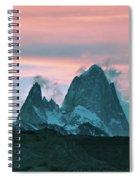 Mount Fitz Roy At Dusk Spiral Notebook