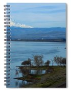 Mount Hood With Train Spiral Notebook