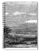 Mount Kilimanjaro, 1884 Spiral Notebook