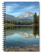 Mount Lassen From Manzanita Lake Spiral Notebook