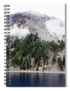 Mount Lassen Volcano In The Clouds Spiral Notebook