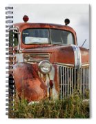 Old Fire Truck In The Mountains Spiral Notebook
