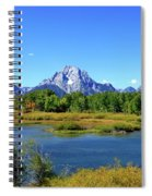 Mount Moran, Grand Tetons National Park, Wyoming  Spiral Notebook
