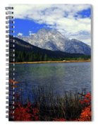 Mount Moran In The Fall Spiral Notebook