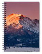 Mount Princeton Moonset At Sunrise Spiral Notebook