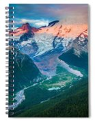 Mount Rainier And White River Spiral Notebook