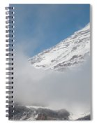 Mount Rainier Behind Clouds 2 Spiral Notebook