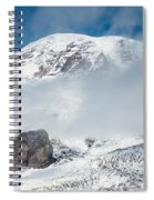 Mount Rainier Behind Clouds 3 Spiral Notebook