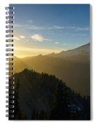 Mount Rainier Golden Dusk Light Spiral Notebook