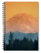 Mount Rainier, Sunset Spiral Notebook