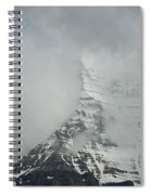 Mount Robson In The Clouds Spiral Notebook