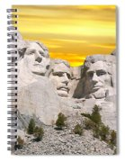Mount Rushmore 11 Digital Art Spiral Notebook