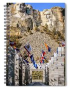 Mount Rushmore Grand View Terrace Spiral Notebook