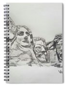 Mount Rushmore Graphite Pencil Sketch Spiral Notebook