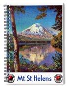 Mount Saint Helens Vintage Travel Poster Restored Spiral Notebook