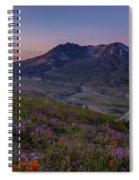 Mount St Helens Spring Colors Spiral Notebook