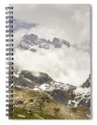 Mount Viso In The Clouds Spiral Notebook