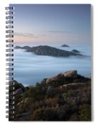 Mount Woodson Above Clouds Spiral Notebook