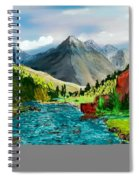 Mountaian Scene Spiral Notebook