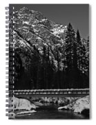 Mountain And Bridge Black And White Spiral Notebook