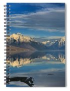 Mountain And Driftwood Reflections Spiral Notebook