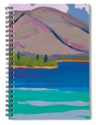 Mountain And Pines Spiral Notebook