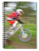 Mountain Bike Rider Spiral Notebook