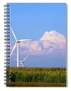 Mountain Clouds And Windmills Spiral Notebook