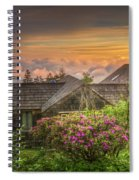 Mountain Flowers At Sunrise Spiral Notebook