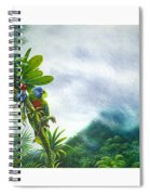 Mountain High - St. Lucia Parrots Spiral Notebook