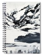 Mountain Lake In Black And White Spiral Notebook