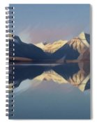 Mountain Lake Reflection Spiral Notebook