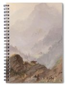 Mountain Landscape In Tirol With Chamois, Johannes Tavenraat, C. 1858 Spiral Notebook