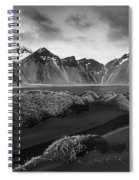 Icelandic Mountain  Landscape Spiral Notebook