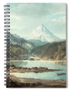 Mountain Landscape With Indians Spiral Notebook