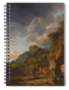 Mountain Landscape With River And Wagon Spiral Notebook