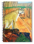 Mountain Lion In Thought Spiral Notebook