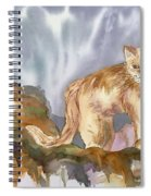 Mountain Lion On The Rocks  Spiral Notebook