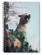 Mountain Lion - Paint Effect Spiral Notebook