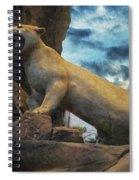Mountain Lion - Paint Fx Spiral Notebook