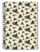 Mountain Lodge Cabin In The Forest - Home Decor Pine Cones Spiral Notebook