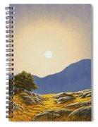Mountain Meadow In Moonlight Spiral Notebook