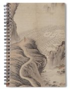 Mountain Path Landscape Ink Painting Spiral Notebook
