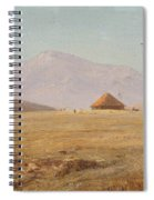 Mountain Plateau With Hut Spiral Notebook