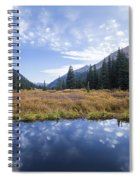 Mountain Pond And Sky Spiral Notebook