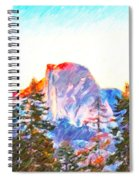 Mountain Range In Yosemite National Park Spiral Notebook